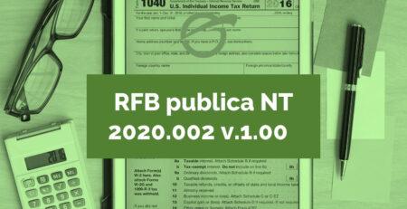 RFB publica NT 2020.002 v.1.00