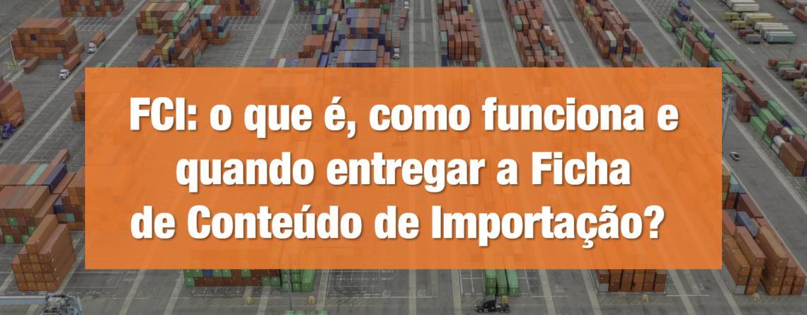 FCI- o que é, como funciona e quando entregar a Ficha deConteúdo deImportação